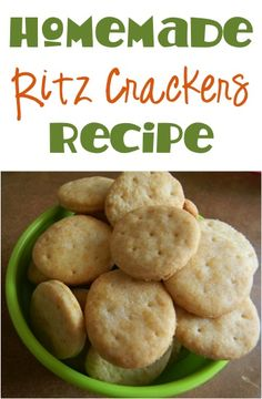 Homemade Ritz Crackers Recipe! #cracker #recipes