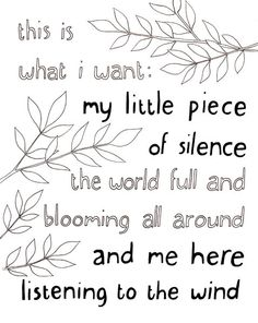 yes :: My Little Piece of Silence by Blue Bicicletta, via Flickr