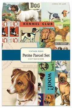 Cavallini 12-Pack Petite Vintage Dogs Parcel Set ** Check this awesome product by going to the link at the image.