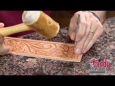 Learning Leathercraft with Jim Linnell, Lesson 3: Flower Centers and the Camouflage Tool - YouTube