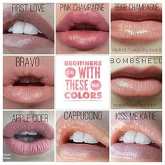 "If you've been stalking LipSense for a while and you just don't know where to start here are some great beginner colors. These are called ""neutrals"" or your ""nude"" colors. You can't go wrong with any of these selections. These colors come in shimmer, matte and frost. What do you want to try on?"