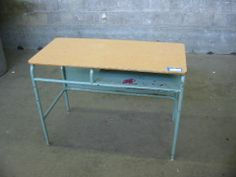 Vintage Teal School Desk | Second Use, Seattle: Building Materials, Salvage, & Deconstruction