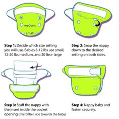 One-Size Advantages.  Ease of Use: One-size cloth nappies are so easy to use. Our no more fuss over nappy pins, consist of either snap or velcro style make putting on a new nappy on your baby fast and simple. No folding is required, and it is guaranteed anti-leak forms along the elasticated rim along underneath the legs room area.