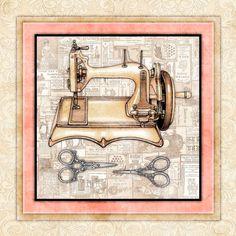 "Sewing Decor Antique ""Sewing Machine 1"" Signed Art Prints Dan Morris Wall Art | eBay"