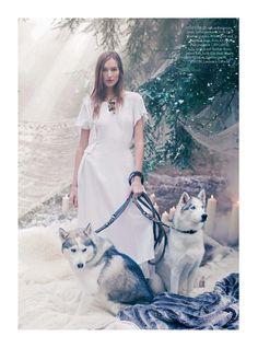 """""""The Snow Queen"""" Harper's Bazaar UK January 2017"""