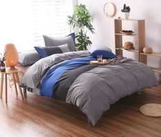 Looking for great YOUSA Striped Bedding Set Fashion Mens Boys Bedding Duvet Cover Set Blue Full by cheap price? Click and order it with Worldwide delivery! Comforter Cover, Bed Duvet Covers, Duvet Bedding, Duvet Cover Sets, Teen Bedding, Bedspread, Pillow Shams, Striped Bedding, Black Bedding