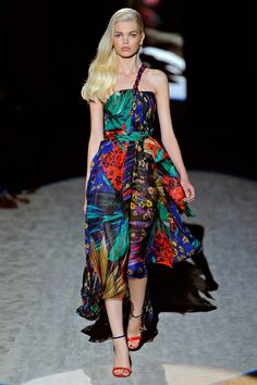 Salvatore Ferragamo (cool prints and colors in his collection.)