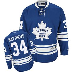 71007e7fbf7 Reebok Toronto Maple Leafs  34 Women s Auston Matthews Authentic Royal Blue  New Third NHL Jersey