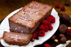 Chocolate, raspberry and Grand Marnier semifreddo