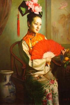 xie chuyu art | Ressam/Painter/Maler Wang Zhen Yu Kimdir? ve Sanat Eserleri