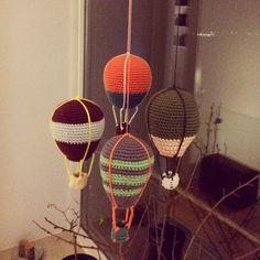 Hæklet luftballon uro fra Lutter Løkker