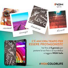 Ancora due giorni per partecipare all'iniziativa #NgmColorLife. Condividi le tue creazioni o le tue foto più belle su Instagram con l'hashtag #NgmColorLife, taggando @ngm_italia. Potrai essere il fortunato che vedrà la propria immagine trasformarsi nelle cover personalizzate ufficiali di #Ngm!