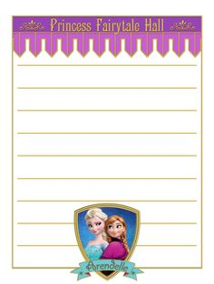 """Anna & Elsa - Frozen - Princess Fairytale Hall - Magic Kingdom - Project Life Journal Card - Scrapbooking ~~~~~~~~~ Size: 3x4"""" @ 300 dpi. This card is **Personal use only - NOT for sale/resale** Princess Fairytale Hall/Frozen/clipart belong to Disney. Shield and banner from www.clker.com . Fonts are Campanile www.dafont.com/campanile.font and GiddyupStd www.fontzone.net/font-details/giddyupstd *** Click through to photobucket for more versions of this card ***"""