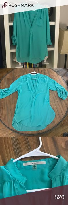 41 Hawtorne Blouse from stitchfix Beautiful Teal Blouse bought from stitchfix.  Only worn a couple of times. 41 Hawthorne Stitchfix Tops Blouses