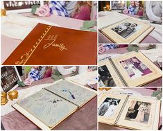 This is a great guest book idea! This couple took wedding photos from their parents and grandparents weddings to fill the first half of their guestbook. Iowa Wedding Photography | CTW Photography