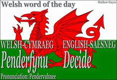 #Welsh word of the day: Penderfynu/ #Decide