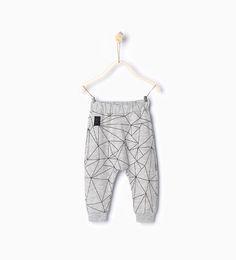 Image 1 of Geometric print leggings from Zara