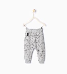 Image 1 of Geometric print leggings from Zara