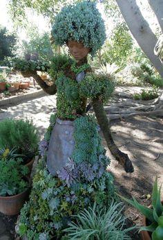 Succulent Mannequin - http://freshpatio.com/unusual-creative-garden-statues/