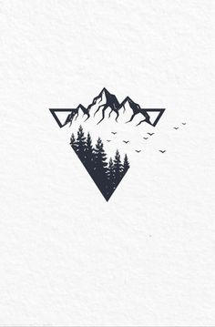 simple tattoos with meaning ; simple tattoos for women ; simple tattoos for women with meaning ; simple tattoos for women unique Tattoos For Women Small, Tattoos For Guys, Men Tattoos, Meaningful Tattoos For Men, Montain Tattoo, Berg Tattoo, Natur Tattoos, Mountain Drawing, Small Mountain Tattoo