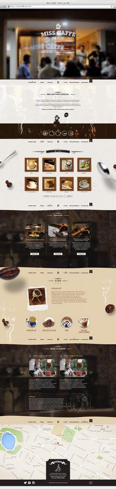 Novo projeto de website para cafeteria de João Pessoa - Paraíba - Brazil. http://misscaffe.com.br