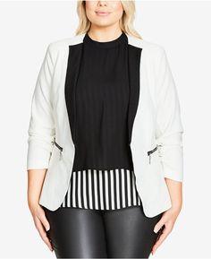 c95a4bc7c21 City Chic Trendy Plus Size So Chic Blazer Plus Size Blazer