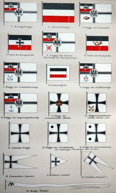 German Imperial Navy flags Repined by HistorySimulation.com