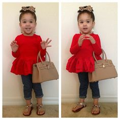 So adorable! It's not every day day tht u see a little girl in a peplum!