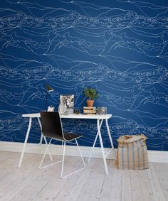 Hey,+look+at+this+wallpaper+from+Rebel+Walls,+Montaña,+blue!+#rebelwalls+#wallpaper+#wallmurals
