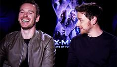 Two of the most adorable and sexiest men ever - Michael Fassbender and James McAvoy