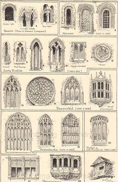 Arquitetura. Janelas Medivais