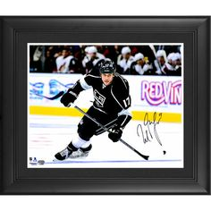 """Milan Lucic Los Angeles Kings Fanatics Authentic Framed Autographed 16"""" x 20"""" Black Jersey Skating Photograph - $149.99"""