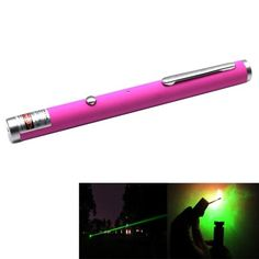 4mw+532nm+Green+Beam+Laser+Stage+Pen,+Built-in+Battery+-+Magenta