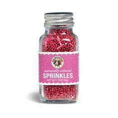 King Arthur Flour Red Natural Sprinkles - 1.75 oz.