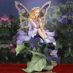 Magic In Bloom Fairy Figurine Our Products: Fairy Figurine Fairy Figurines    My Sister Penny Bought Me This.