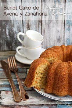Bundt Cake de Avena y Zanahoria #singluten #sinlactosa Comer sano no implica no comer un rico bizcocho. Hoy os dejo una receta muy sanota para los desayuno o meriendas, un bizcocho húmedo y jugoso.