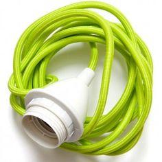 Rie Elise Larsen Lime Textile Cable & Socket £28.95