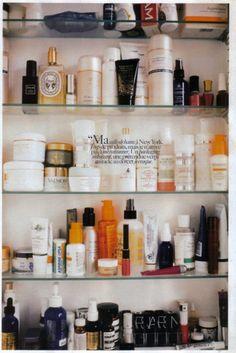 Sofia Coppola's beauty cabinet