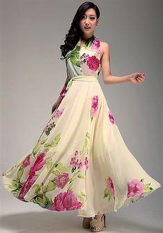 Another gorgeous Chiffon dress. Pretty Summer Dresses, Lovely Dresses, Elegant Dresses, Used Dresses, Cheap Maxi Dresses, Long Dresses, Modesty Fashion, Fashion Dresses, Floral Fashion