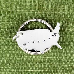 This Long Distance Relationship aluminum key chain is a great gift for someone special in you life who you want to show you care. The design is stamped by hand, one letter at a time, including a hear