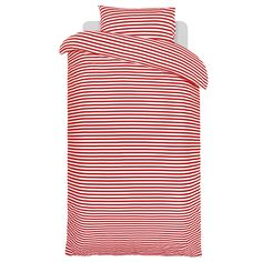 Annika Rimala's design of the Tasaraita striped pattern is now also available as bed linen. The simple red-and-white striped pattern is at the same time traditional and modern, and with looks guaranteed to match with your home.