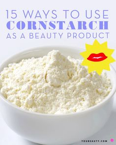 15 Ways You Never Thought to Use Cornstarch as a Beauty Product #skincare #diy #diybeauty