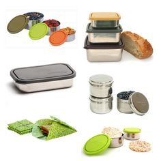 Kids Konserve makes tons of stainless steel lunch containers. Keeping various sizes grouped in a special box in the pantry helps the kids pack their own lunches easily with no waste! They can bring home their apple cores, etc to be composted. Stainless Steel Lunch Containers, Acidic Foods, Utensil Set, Food Storage Containers, Healthy Eating, Healthy Lunches, Clean Eating, Meal Planning, Cooking Recipes