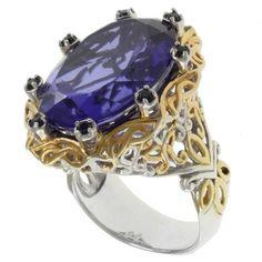 @Overstock.com - Michael Valitutti Sterling Silver Tanzanite Quartz Two-Tone Ring - Tanzanite quartz ringSterling silver jewelry Sterling-Silver-Tanzanite-Quartz-Two-Tone-Ring/7359000/product.html?CID=214117 $127.79