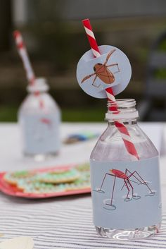 Bug Party Drinks  www.spaceshipsandlaserbeams.com  Boys Party Ideas