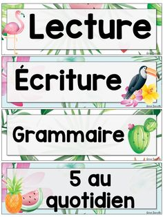 Menu du jour tropical modifiable by Annie Barrette French Education, French Immersion, French Class, Cycle 3, Classroom Decor, Classroom Management, Literacy, Menu, Language