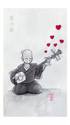 Love Song, Sumi-e by: 7e55e #love