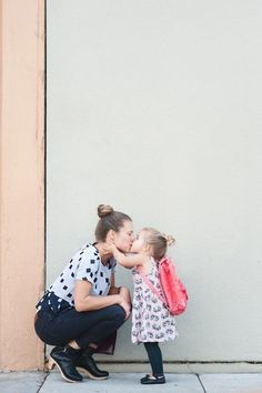 Mamma + Kiddo Photo - First Day of School Traditions - Photos