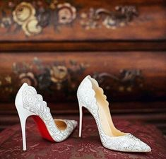 Not sure what style wedding shoe you want? Checking these awesome 26 Non-Boring White Wedding Shoes! They're great to wear long after the wedding is over. shoes 26 Non-Boring White Wedding Shoes Wedding Shoes Bride, White Wedding Shoes, Bride Shoes, Wedding Blog, Wedding Heals, Dream Wedding, Wedding Jewelry For Bride, Designer Wedding Shoes, Light Wedding