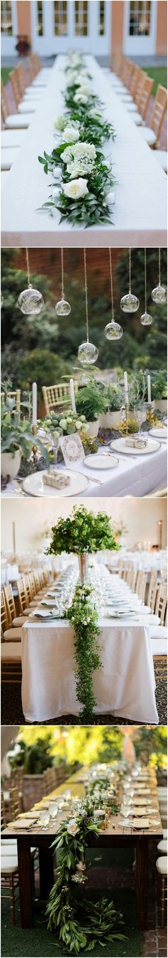 18 Rustic Greenery Wedding Table Decorations You Will Love! autumn wedding colors / wedding in fall / fall wedding color ideas / fall wedding party / april wedding ideas Wedding Color Pallet, Fall Wedding Colors, Wedding Flowers, Autumn Wedding, Summer Table Decorations, Reception Decorations, Rustic Wedding Centerpieces, Table Wedding, Wedding Ideas